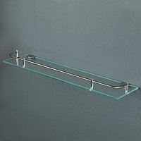 Полка для ванной комнаты 49,5×11×3,5 см, металл, стекло