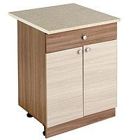 Шкаф напольный, 800 × 450 × 840, Ясень шимо темный/Ясень шимо светлый