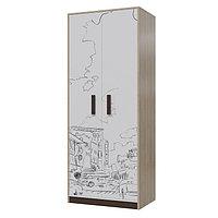 Шкаф для одежды Арабика 800х520х1995 Дуб Ривьера/Белый-Арабика