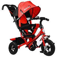 """Велосипед трёхколёсный Micio Classic Air, надувные колёса 10""""/8"""", цвет красный"""