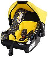 Автокресло для детей 0-13 кг Siger серия Disney baby Эгида Винни Пух кружки желтый