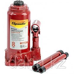 Домкрат гидравлический бутылочный 8 т, h подъема 180-350 мм Sparta Compact