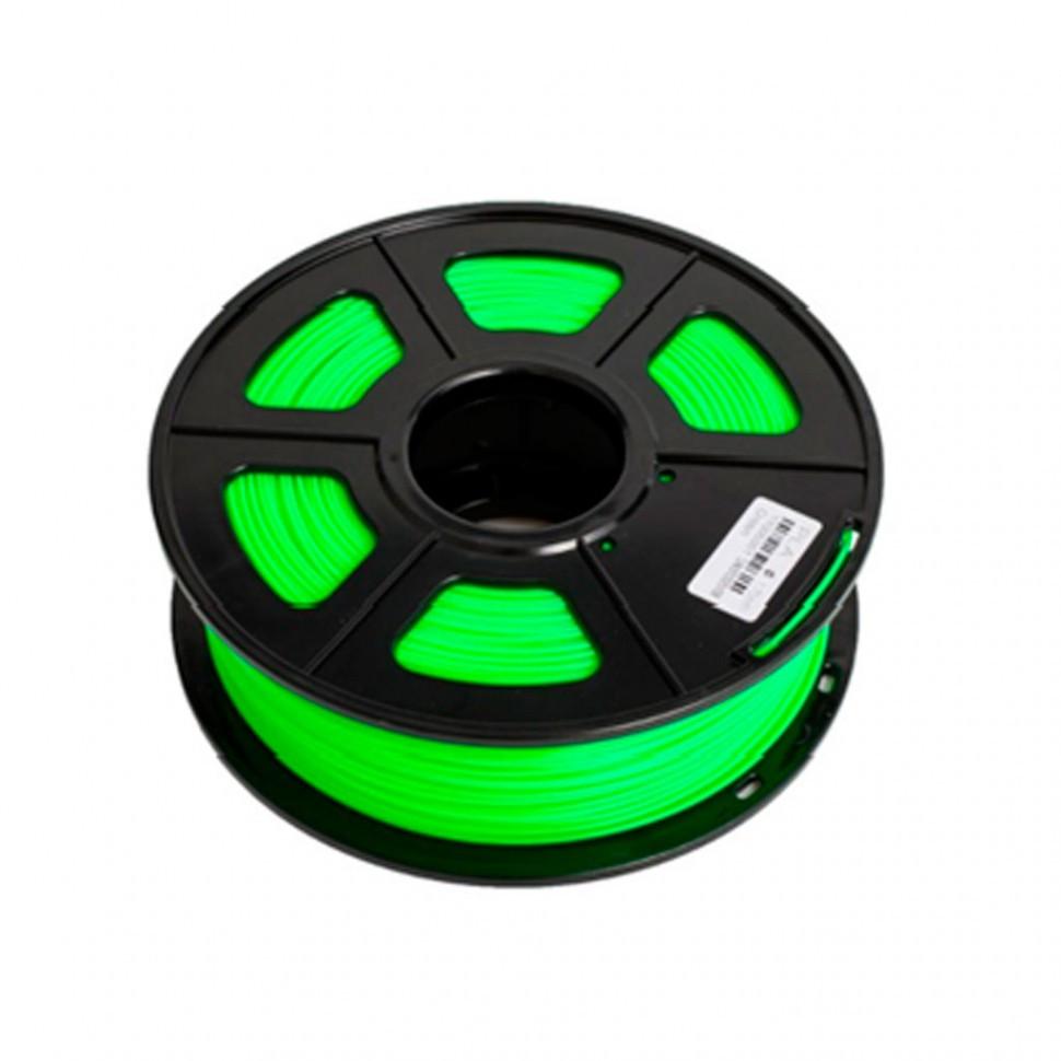 Пластик для 3D принтеров PLA, SunLu, светящийся, зеленый