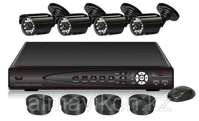 Комплект видеонаблюдение (KONGTOP 7004AD-KIT)