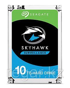"Накопитель на жестком магнитном диске Seagate Жесткий диск HDD 10TB Seagate SkyHawk ST10000VE0008 3.5"" SATA 6Gb/s 256Mb 7200rpm для систем"