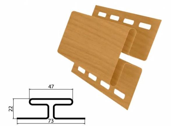 Профиль H соединительный Клен 3000 мм Grand Line TUNDRA