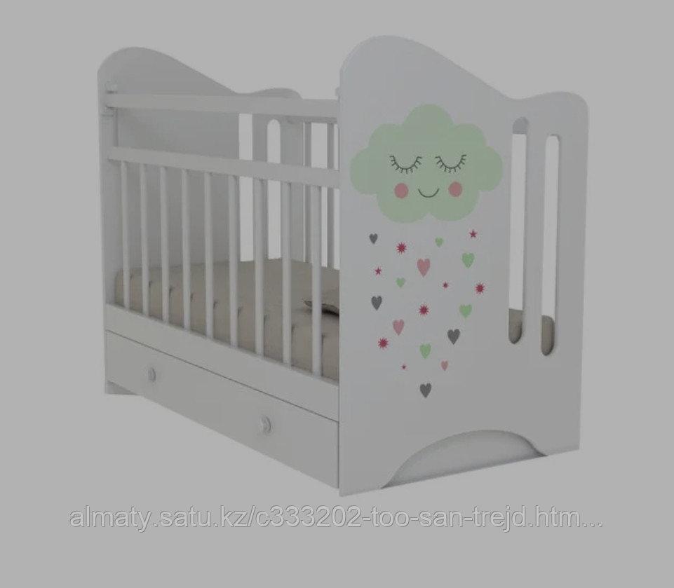 Детская кроватка NIKOLER( белый, бежевая- береза)