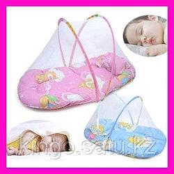 Переносная кроватка для малышей с балдахином