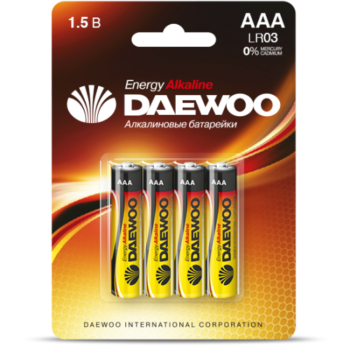 Батарейки DAEWOO LR03EA-4B
