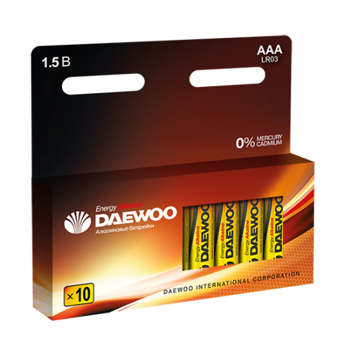 Батарейки DAEWOO LR03EA-10P