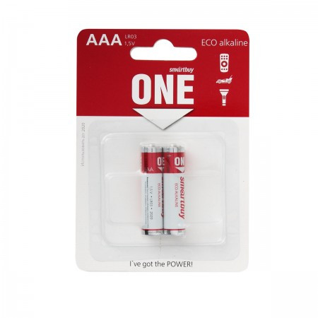 Батарейка алкалиновая Smartbuy ONE LR03/2B (24/240)  (SOBA-3A02B-Eco)