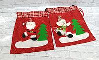 новогодние игрушки brand 52641 Мешок д/подарков Новогодний (красный) (Снеговик)