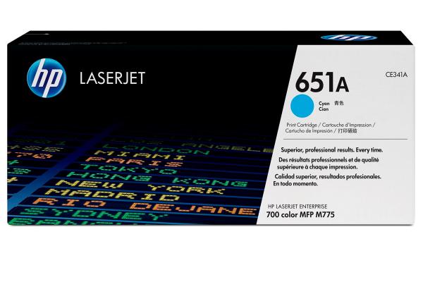 Лазерный картридж HP CE341A 651A (Cyan)