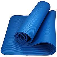 Коврик для йоги NBR (каучук) 183*63*1 см, синий