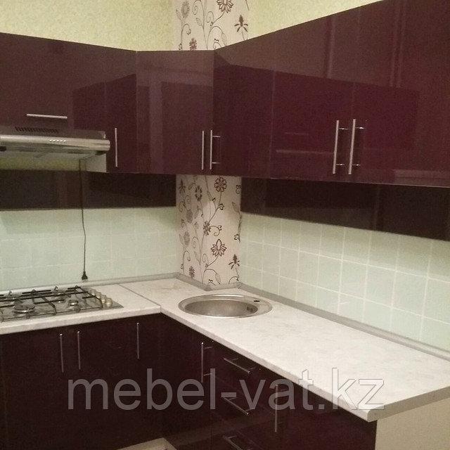 Кухня угловая. Красная. Алматы