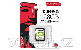 Карта памяти SD 128GB Class 10 U1 Kingston SDS/128GB