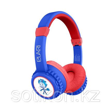 Наушники-накладные беспроводные ELARI FixiTone Air сине-красный, фото 2