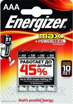 Элемент питания LR03 AAA Energizer MAX  Alkaline 4 штуки в блистере, фото 2