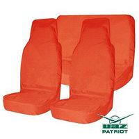Комплект грязезащитных чехлов на пер. и зад. сиденья Tplus для УАЗ ПАТРИОТ, 6шт. оранжевый (T014361)
