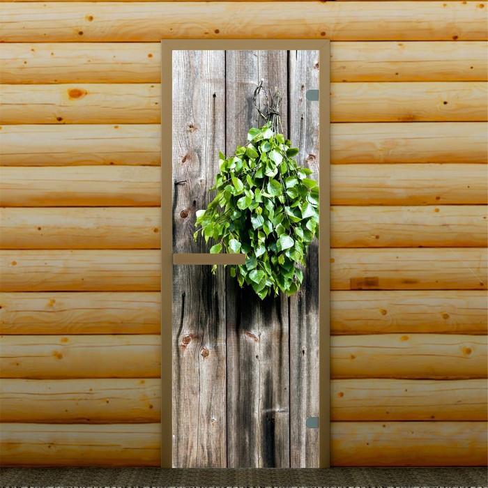 """Дверь левое открывание """"Веник"""", 190 х 70 см, с фотопечатью 6 мм Добропаровъ"""