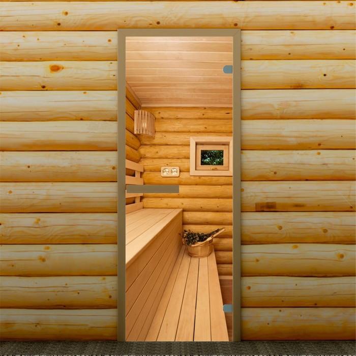 """Дверь левое открывание """"Полок"""", 190 х 70 см, с фотопечатью 6 мм Добропаровъ"""