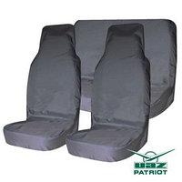 Комплект грязезащитных чехлов на пер. и зад. сиденья Tplus для УАЗ ПАТРИОТ, 3шт., серый (T014062)