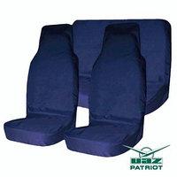 Комплект грязезащитных чехлов на пер. и зад. сиденья Tplus для УАЗ ПАТРИОТ, 6шт., синий (T014367)