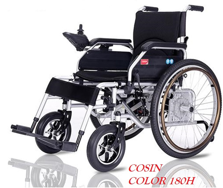 Инвалидная коляска электр.,30 Кг, COSIN COLOR 180H, 24v 500w (2*250w). Аккум. гелевый 24v 12A/H.