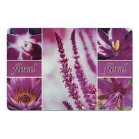 Подставка под горячее, размер 43,5х28,5 см, пластик, цвет сиреневые цветы (комплект из 2 шт.)