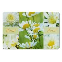 Подставка под горячее, размер 43,5х28,5 см, пластик, цвет белые цветы (комплект из 2 шт.)