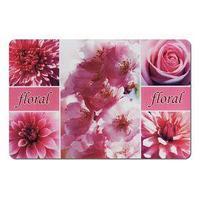 Подставка под горячее, размер 43,5х28,5 см, пластик, цвет розовые цветы (комплект из 2 шт.)
