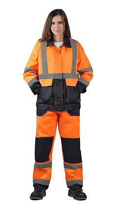 Женский сигнальный костюм оранжевый в Алматы, фото 2