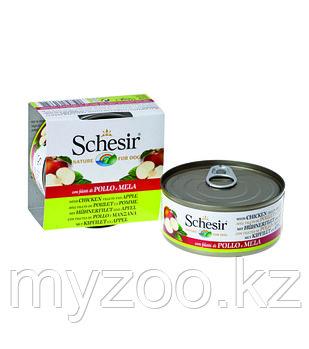 Schesir консервы для собак ЦЫПЛЁНОК+ЯБЛОКО 150гр
