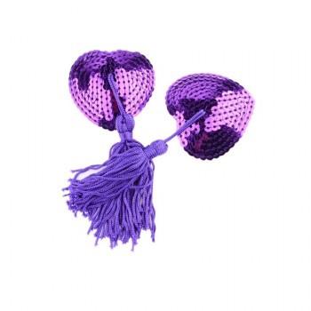 """Пэстисы """"Сердце"""", фиолетовые"""