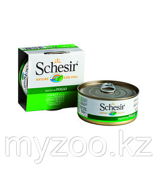 Schesir консервы для собак ЦЫПЛЁНОК 150гр