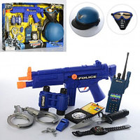 Набор полицейского с автоматом-трещеткой 33550