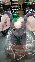 Детская качалка СибМишка Слоник с зеленым бантом, фото 1