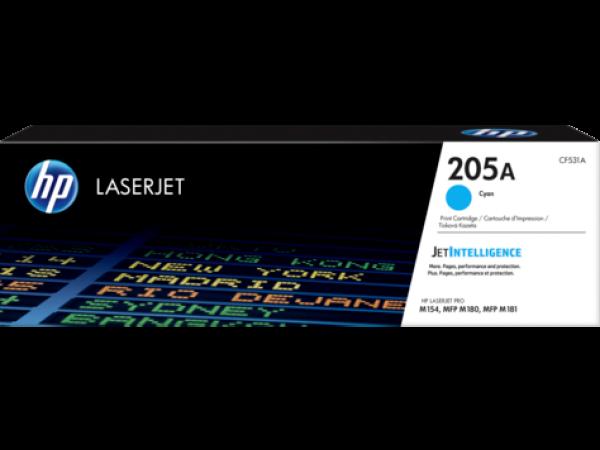 Картридж лазерный HP CF531A, LaserJet 205A, голубой