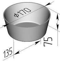 Хлебная форма 1 ДМз (170 х 135 х 75мм)