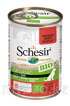Schesir Bio консервы для собак, говядина 400г