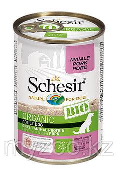 Schesir Bio консервы для собак, свинина 400г