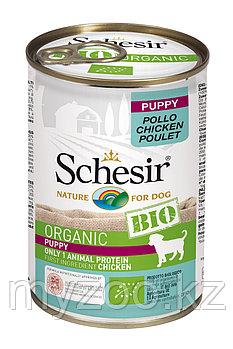 Schesir Bio консервы для щенков, курица 400г