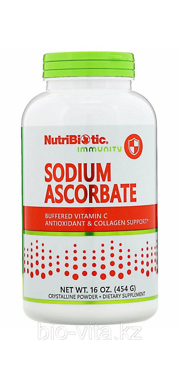 NutriBiotic  порошок, 454 г. Витамин С (бескислотная форма) 363 порции по 1000 мг. 1/4 чайной ложки =1000мг