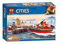 Конструктор Пожар в порту, LARI 11212, аналог Лего Сити 60213