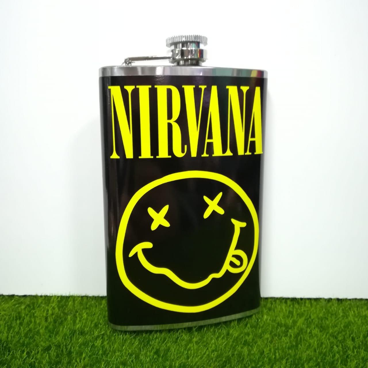 Металлическая фляжка Nirvana (Нирвана)