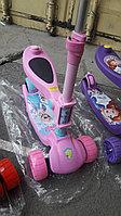 Самокат детский 2 в 1 DUO широкие колеса розовый