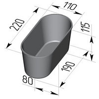 Форма для хлеба №7 овал (220 х 110 х 115мм)