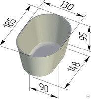 Форма для хлеба №10-1 овал (185 х 130 х 95мм)