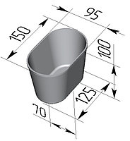 Форма для хлеба №10-3 овал (218*100*60мм)