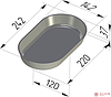 Форма для хлеба №11 овал (150 х 95 х 100мм)